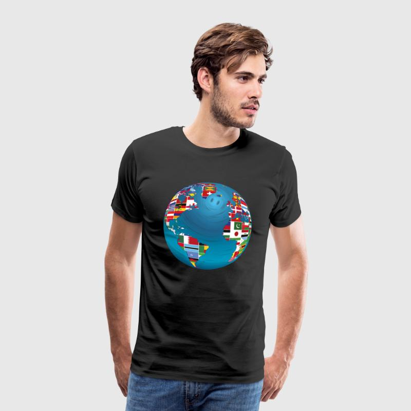 World map globe earth globe country flags continents by mister tee world map globe earth globe country flags continents mens premium t shirt gumiabroncs Images