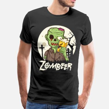 Du Houblon Zombie Craft Beer Halloween Creepy Hop Brewer - T-shirt Premium Homme