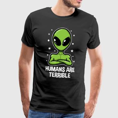 UFO Alien Eksternt Alien Head Gift - Premium T-skjorte for menn
