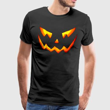 Pumpkin blood halloween horror - Men's Premium T-Shirt