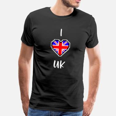 I Love Uk I love UK - T-shirt Premium Homme