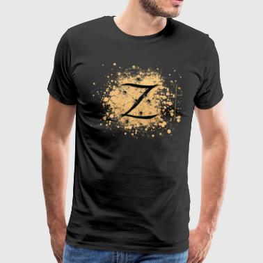 Zorro The Hero's Trademark Letter Z Initial - Premium T-skjorte for menn