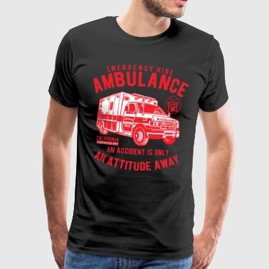 Rescue Service Paramedics Emergency Ride Ambulance - Men's Premium T-Shirt
