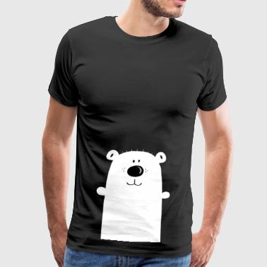 Cuddly polar bear - polar bear - bear - children - Men's Premium T-Shirt