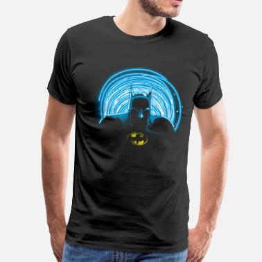 Batman Superhelden DC Comics Originals Batman Umriss Neonlicht - Männer Premium T-Shirt