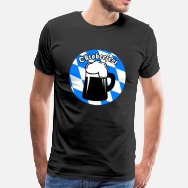 Effect Mass Effect Oktoberfest Blue White Mass Beer - Men's Premium T-Shirt
