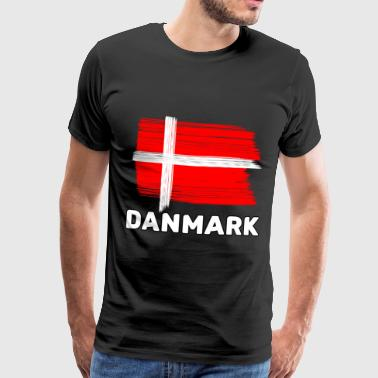 Copenhagen Denmark with national flag - Men's Premium T-Shirt