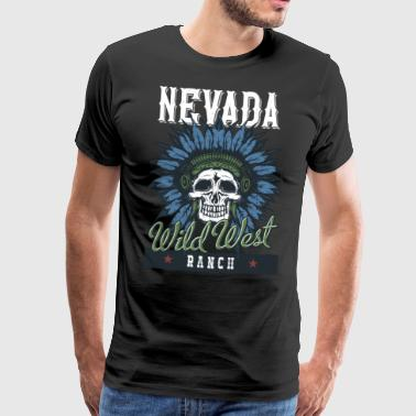 Nevada Wild West Ranch - T-shirt Premium Homme
