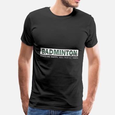 Goed Badminton Shuttle Happy Springs Gift - Mannen Premium T-shirt