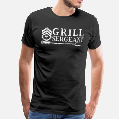 Instructeur Grill Sergeant BBQ Barbecue - Mannen Premium T-shirt