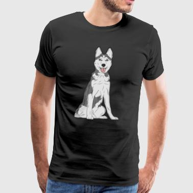 Dog Husky - Men's Premium T-Shirt
