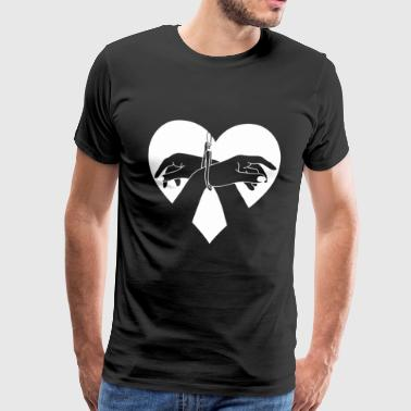 Heart Hands Handcuffed - Herre premium T-shirt