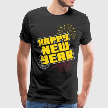 Happy new year - Premium T-skjorte for menn