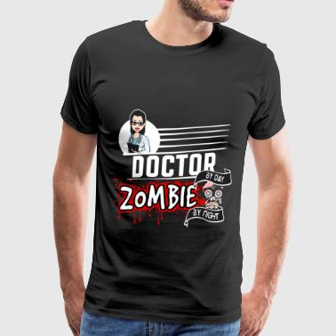 Female Doctor - Zombie by night - Men's Premium T-Shirt