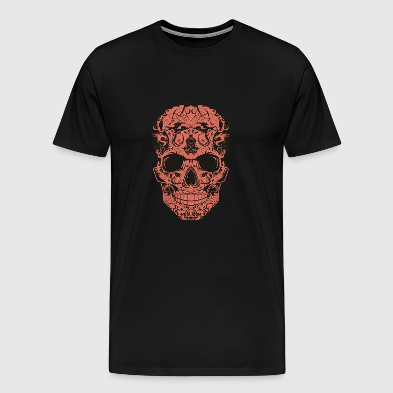 Mexican skull skull dragon tribal crane m - Men's Premium T-Shirt