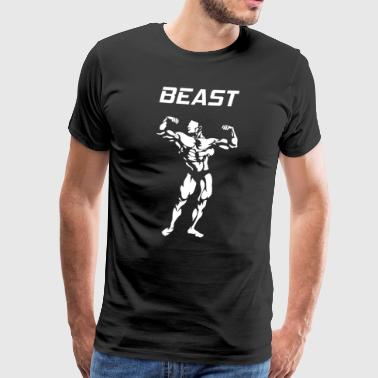 BEAST - Bodybuilder - Motivation - Männer Premium T-Shirt