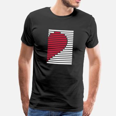 Divided heart partner shirt right camicia di partner cuore destro - Maglietta Premium da uomo