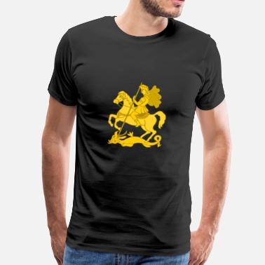 George The Dragon Saint George and dragon - Men's Premium T-Shirt