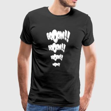Booom Booom Boom Techno Rave Wear Tekno Tribe - Mannen Premium T-shirt