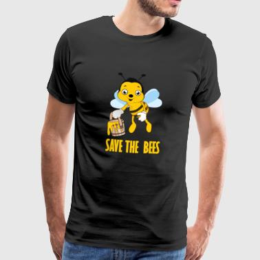 Gem bierne honeybee apiary bee queen - Herre premium T-shirt