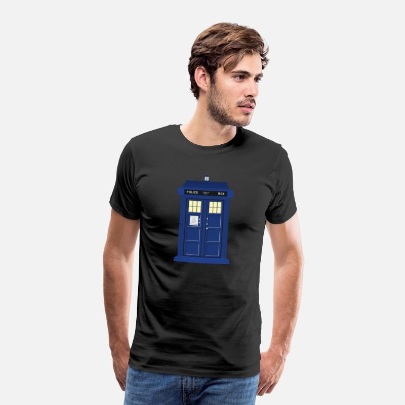 Doctor T-Shirts - Tardis print Doctor Who - Men's Premium T-Shirt black