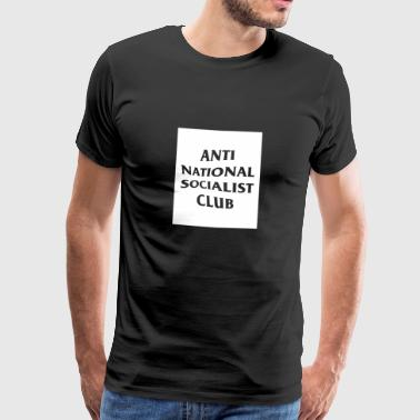 Anti Nazi Club Rectangle - T-shirt Premium Homme