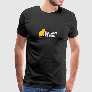 Macho Quotes: I Eat Cats! - Men's Premium T-Shirt