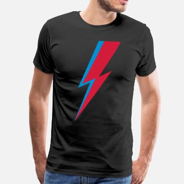 David Bowie Flash, music, rebel, hero, comic, dance, star - Mannen Premium T-shirt