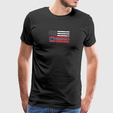Norwegian Norwegian American Flag - USA Norway Shirt - Men's Premium T-Shirt