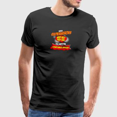 Superhero gift funny profession Compliance Officer - Men's Premium T-Shirt