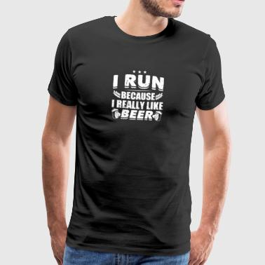 Divertente Beer Party Shirt Run Like Beer - Maglietta Premium da uomo