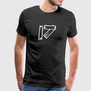 Number 17 Seventeen wood optics HATRIK DESIGN - Men's Premium T-Shirt