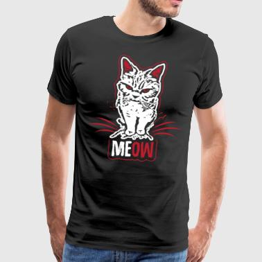 Mad Cat - Meow Meow - T-shirt - Men's Premium T-Shirt