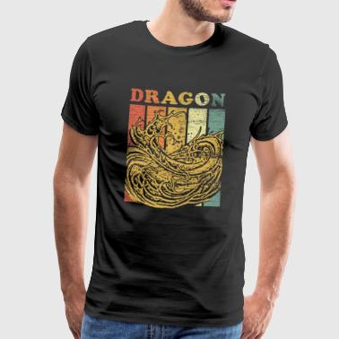 Dragon Fantasy Fairy Tale Knight créature mythique fable - T-shirt Premium Homme
