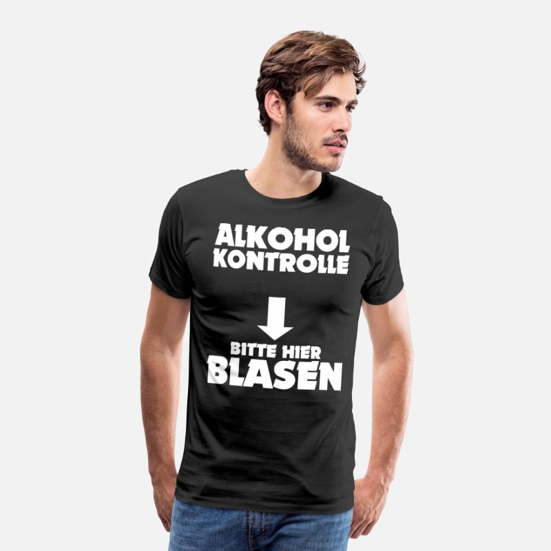Alcohol T-Shirts - Alcohol control please blow here - Men's Premium T-Shirt black