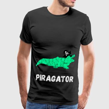 Cadeaux de reptiles de crocodiles d'alligators de pirate - T-shirt Premium Homme