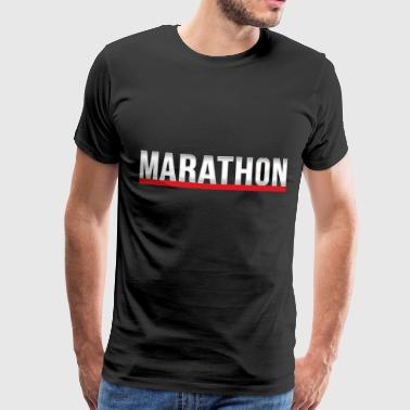 marathon - Men's Premium T-Shirt