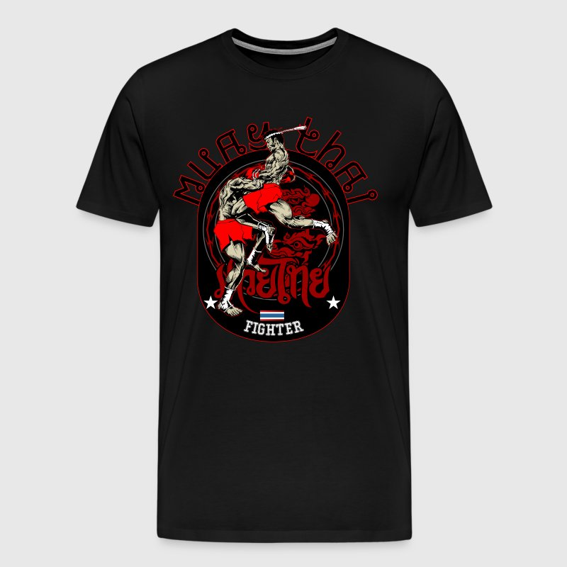 Muay Thai Fighter T-Shirt - Men's Premium T-Shirt