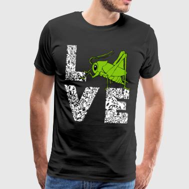 Grasshopper grasshopper Love entomology gift - Men's Premium T-Shirt