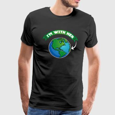 Sono con lei - Mother Earth Nature Habitat Globe - Maglietta Premium da uomo