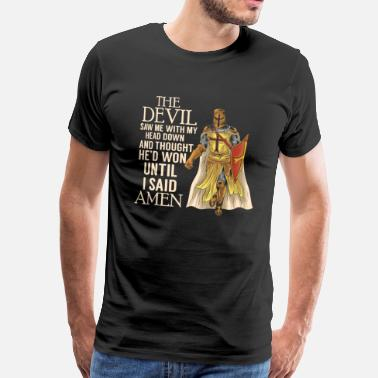 Knight Crusader Knight Christianity Christian Quote quote - Men's Premium T-Shirt