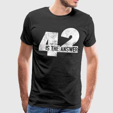 The Answer Is 42 - Men's Premium T-Shirt