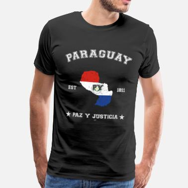Asunción Paraguay vintage map with date of founding - Men's Premium T-Shirt