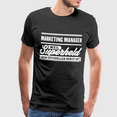 Superheld Marketing Manager - Männer Premium T-Shirt