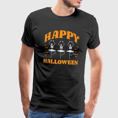 Hexenbesen Happy Halloween Skeleton Dance Ballet - Premium T-skjorte for menn