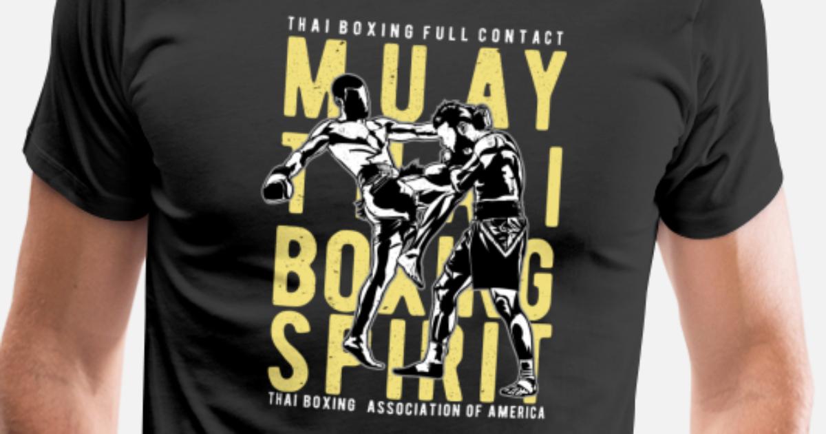 Muay Thai T Shirt Design | Muay Thai Kickboxing Material Art Sport Design Manner Premium T