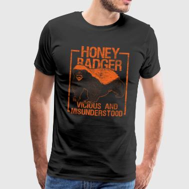 Honey Badger Forest Animal Asia Africa Gift - Men's Premium T-Shirt