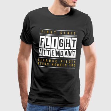 Flight attendent flyvertinne fly pilot gave - Premium T-skjorte for menn