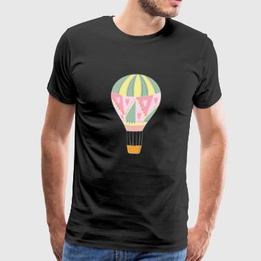 Balloon ride on hot air balloon - Men's Premium T-Shirt