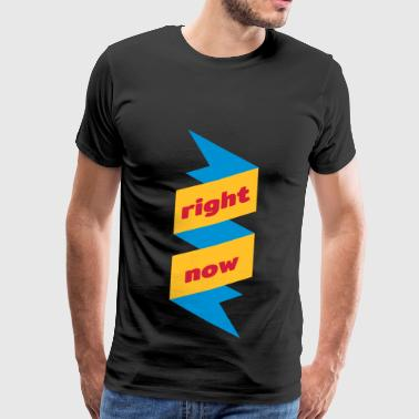 right now symbol - Men's Premium T-Shirt